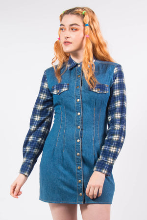 Vintage 90's Denim Shirt Dress