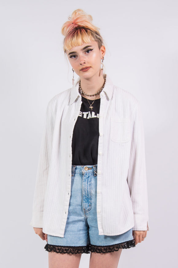 Vintage 90's White Cord Shirt