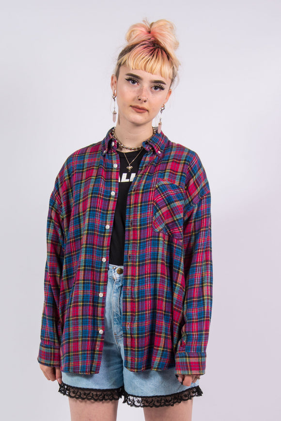 Vintage 90's Checked Flannel Shirt