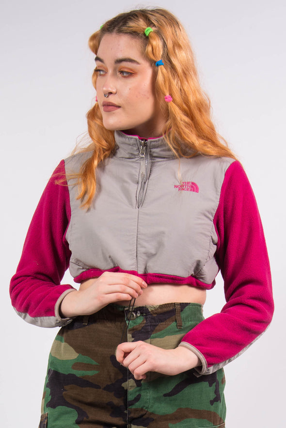 The North Face Pink Cropped Fleece