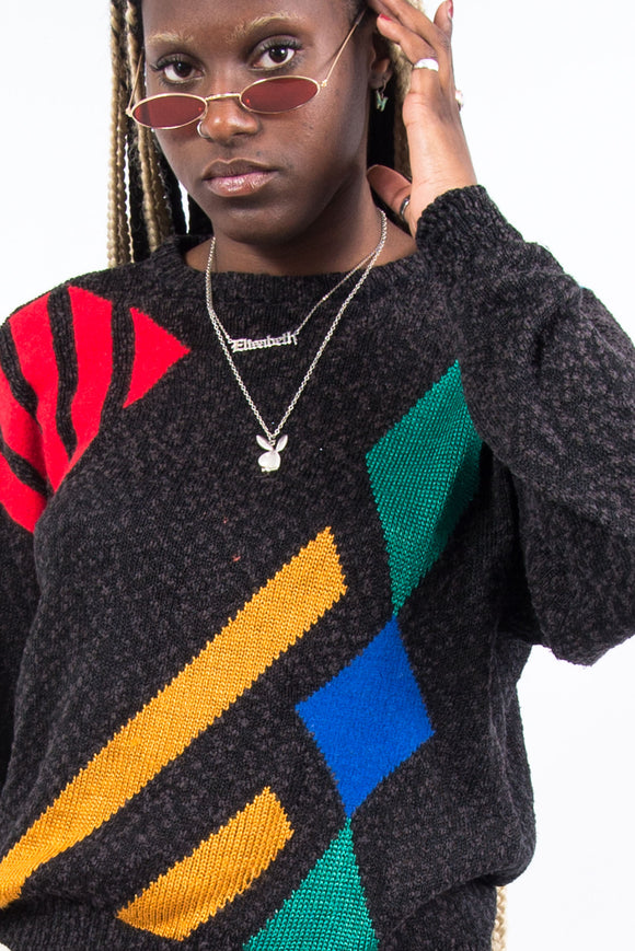 Vintage 90's Abstract Knit Jumper
