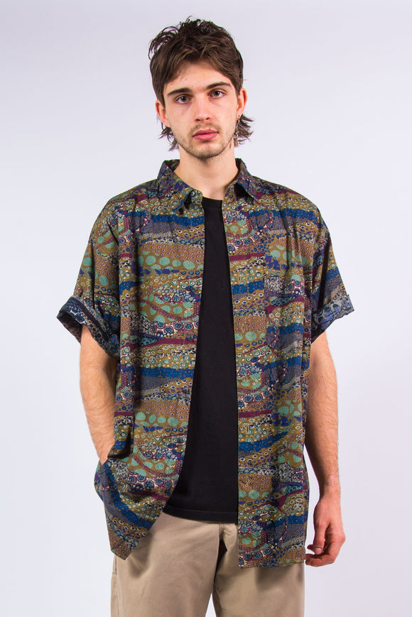 90's Vintage Retro Pattern Shirt