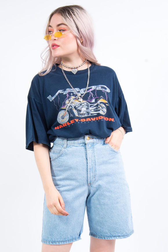 Vintage 90's Denim Mom Shorts