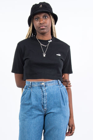 Black Puma Cropped T-Shirt