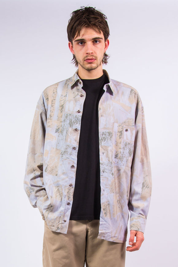 90's Vintage Marble Effect Shirt