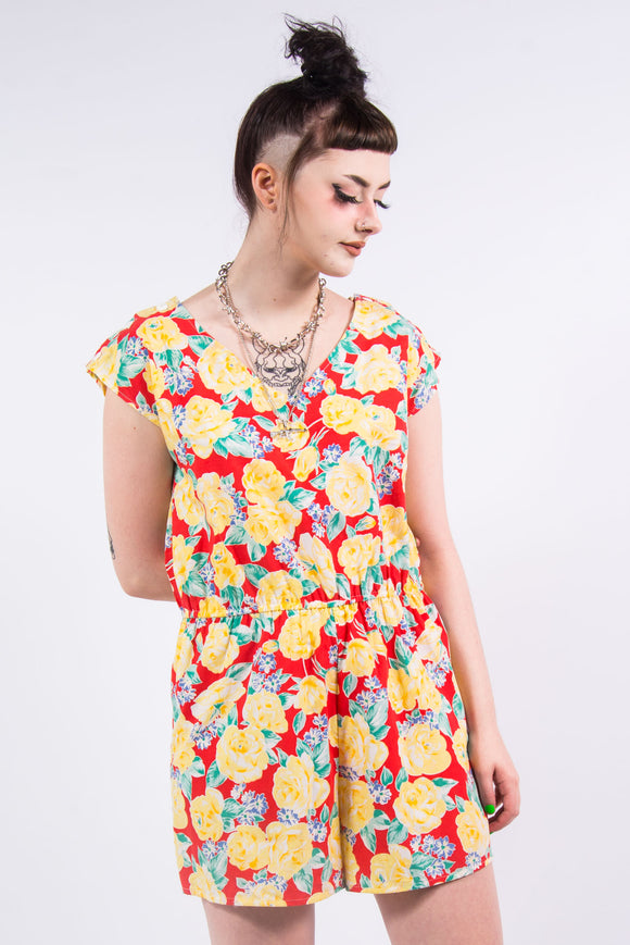 Vintage Tropical Hawaiian Playsuit
