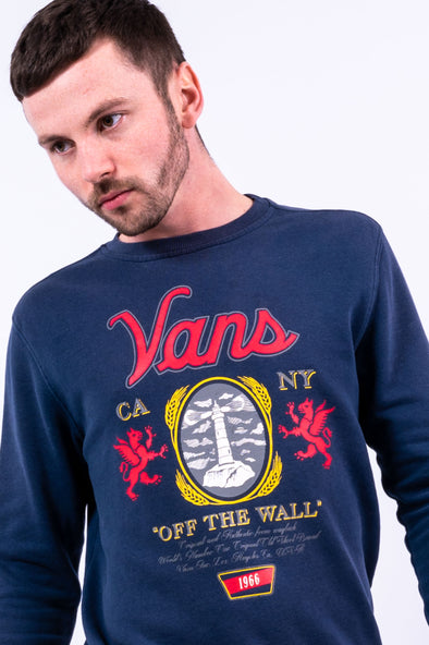 00's Vans Graphic Print Sweatshirt