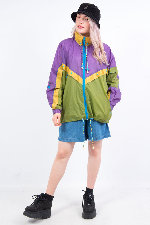 Vintage 90's Colour Block Cagoule Rain Jacket