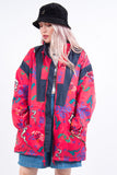 Vintage 90's Abstract Windbreaker Cagoule