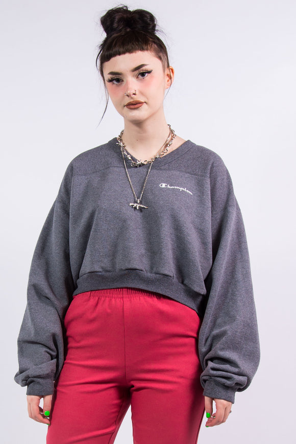 Vintage 90's Champion Cropped Sweatshirt