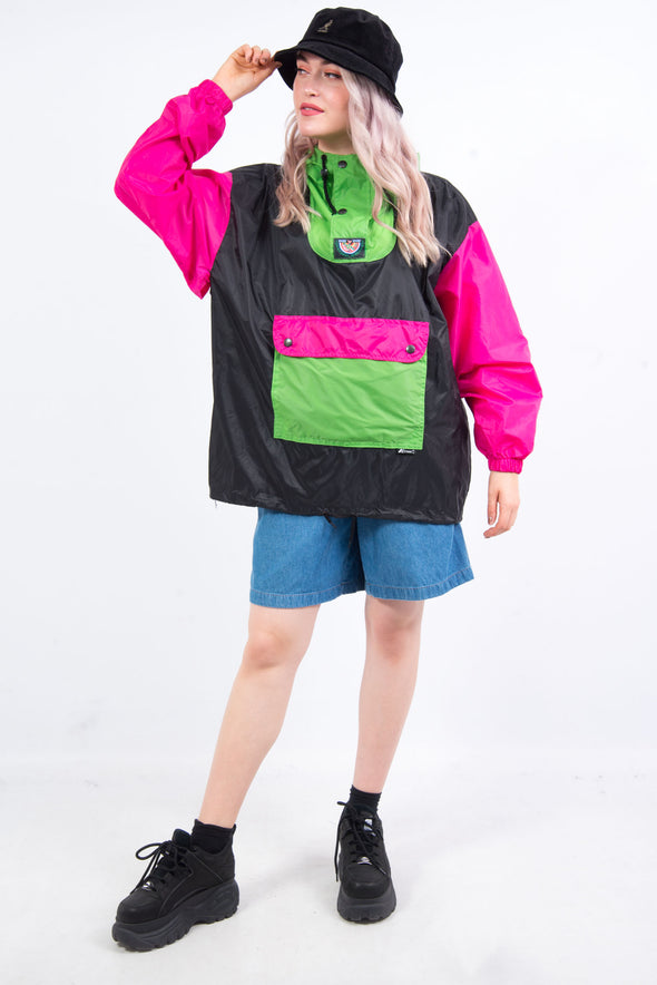 Vintage 90's K-Way 1/4 Zip Colour Block Windbreaker