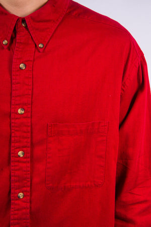 Vintage Plain Red Shirt