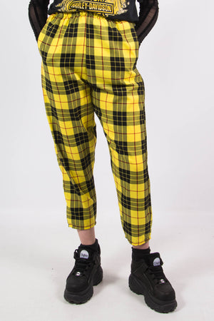 Cher Yellow Tartan Check Trousers
