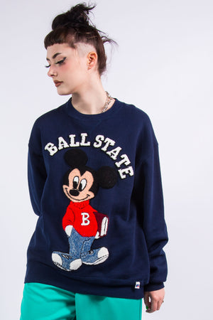 Vintage 90's Ball State University Mickey Mouse Sweatshirt