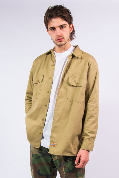 Vintage Dickies Beige Workwear Shirt