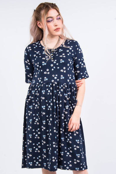 Vintage 90's Patterned Midi Dress