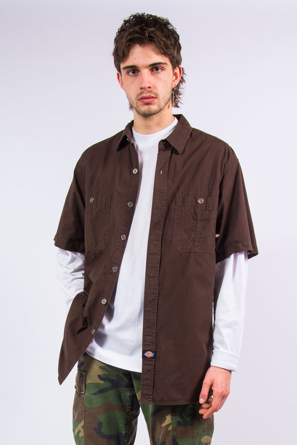 Vintage Dickies Brown Short Sleeve Shirt