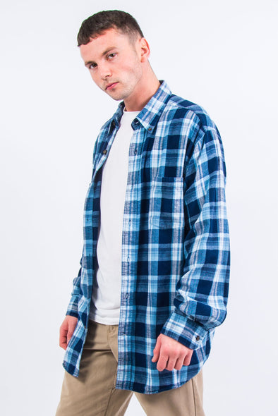 90's Blue Check Flannel Shirt