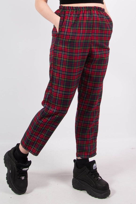 Dionne Red Tartan Check Trousers