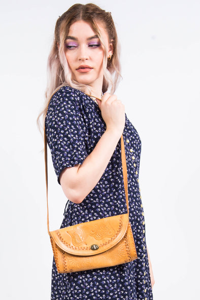 Vintage 70's Tan Shoulder Bag