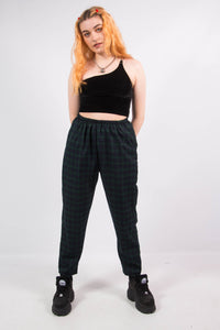 Ty Green Tartan Check Trousers