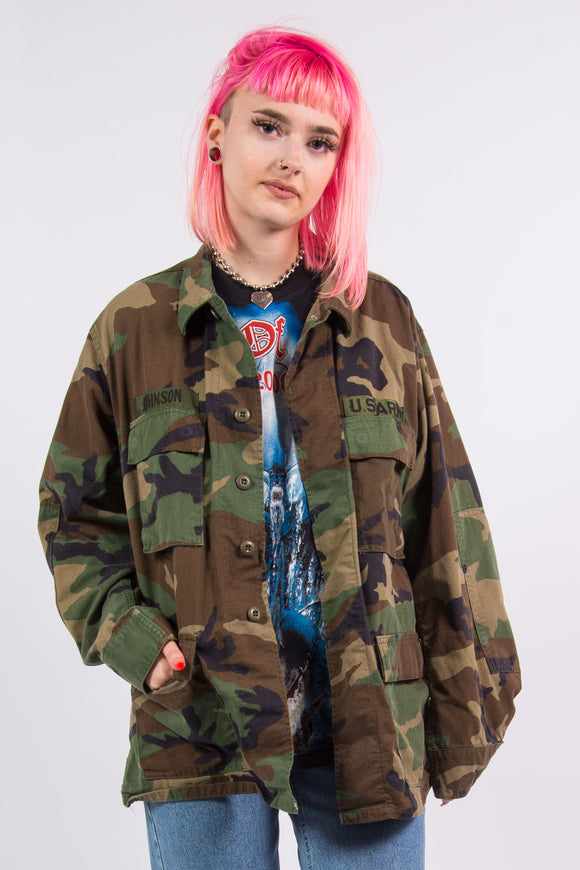 Vintage 90's Camo US Army Jacket