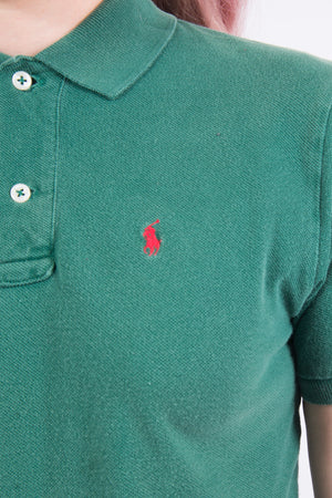Vintage Ralph Lauren Cropped Polo T-Shirt