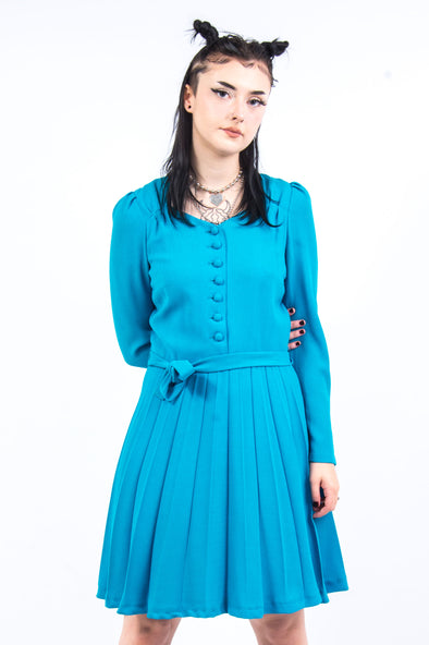 Vintage 70's Blue Mini Dress