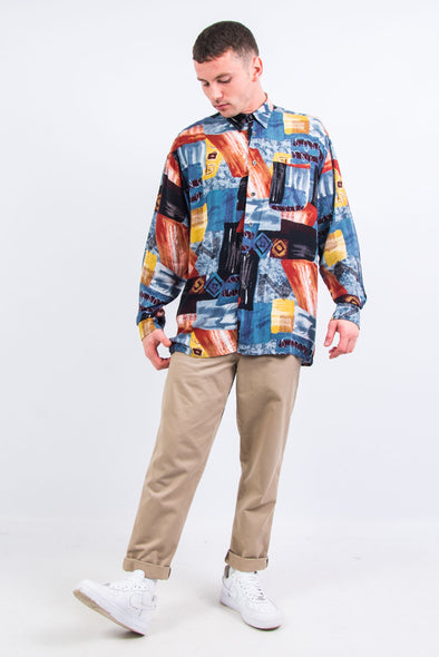 90's Vintage Abstract Patterned Shirt