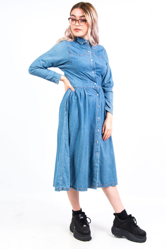 Vintage 90's Denim Western Dress