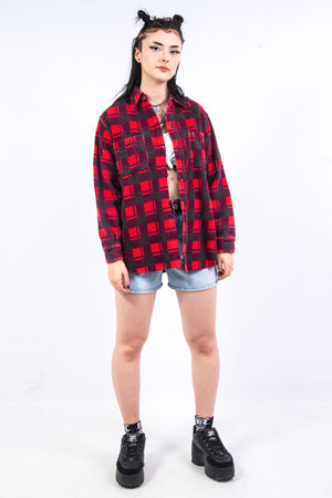 Vintage 90's Red Thick Flannel Shirt