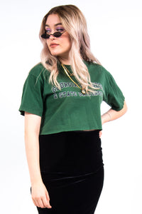 Vintage Cropped College T-Shirt