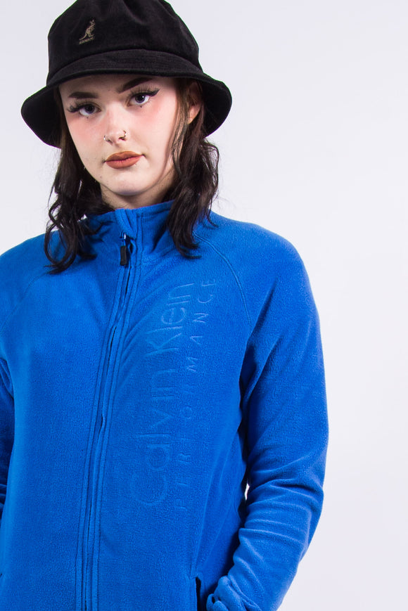 Vintage Calvin Klein Blue Fleece Jacket