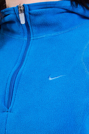 Vintage Nike Blue Cropped Fleece