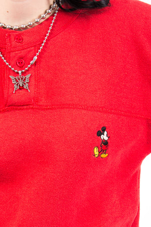 Vintage 80's Button Neck Disney Sweatshirt