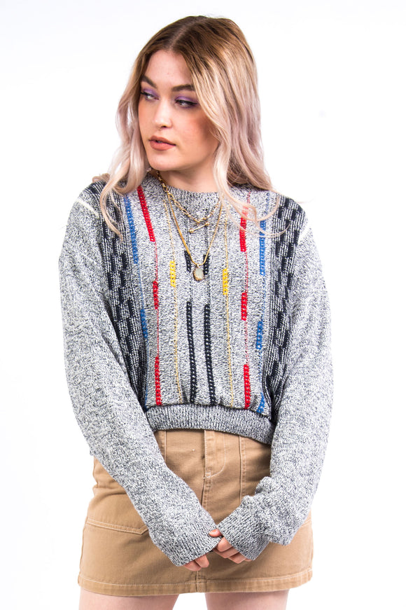 Vintage 90's Cropped Knit Jumper