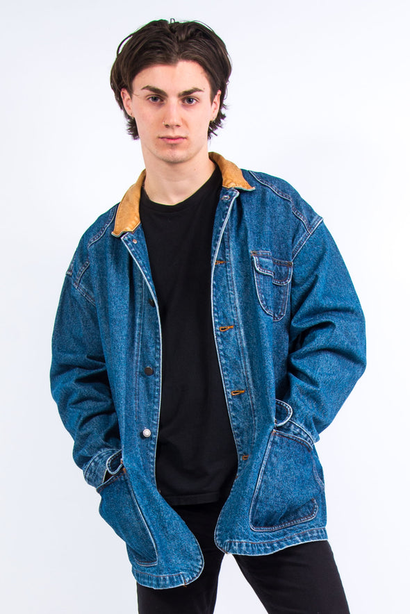 90's Vintage Blue Denim Chore Jacket