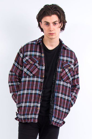 90's Vintage Padded Flannel Shirt