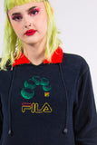 Vintage 90's Fila Colour Block Fleece Jumper