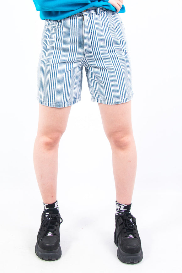 Vintage 90's Striped Denim Mom Shorts