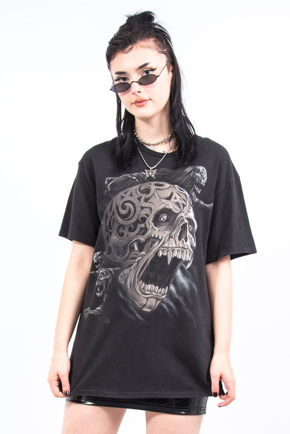 Vintage Y2K Skull Graphic T-Shirt