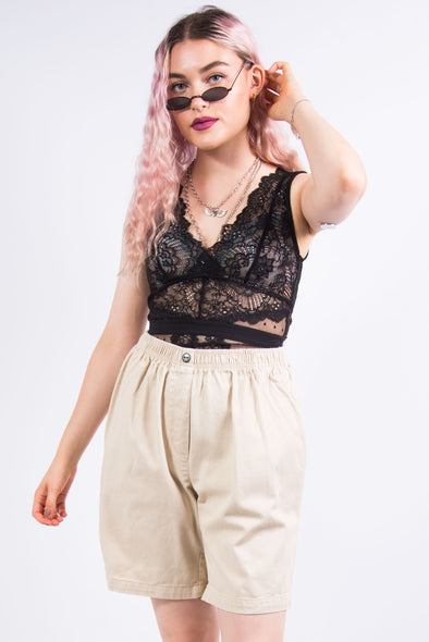 Vintage 90's Beige High Waist Shorts