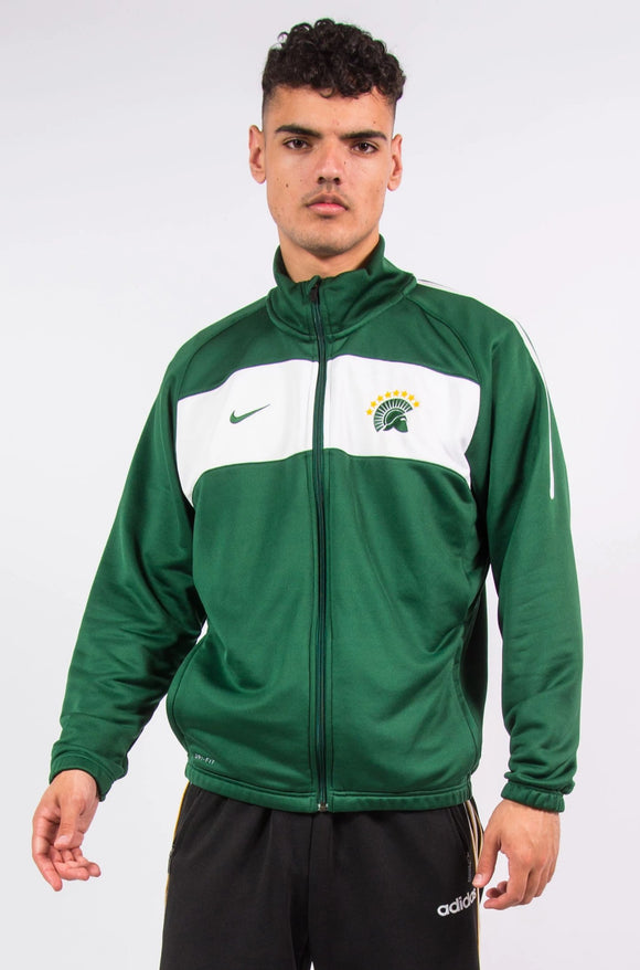 Nike green and white tracksuit jacket