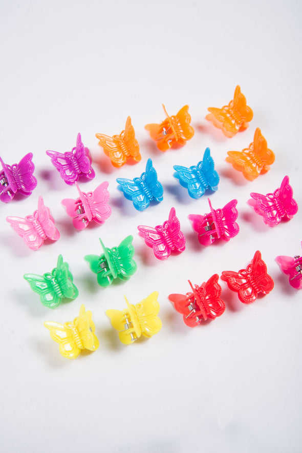 Vintage 90's Butterfly Hair Clips - 20PCS