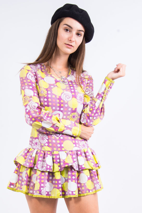 Vintage 60's Style Drop Waist Dress