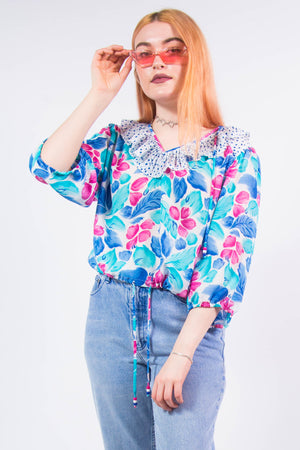 Vintage 90's Frilly Blouse Top