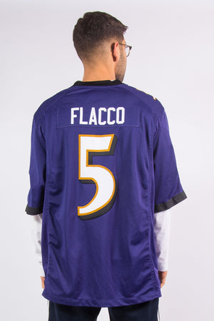 Nike Baltimore Ravens NFL American football jersey with #5 Joe Flacco