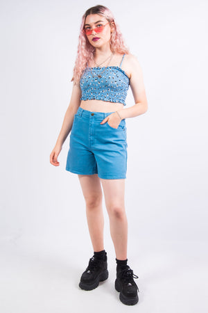 Vintage 90's Blue Mom Shorts
