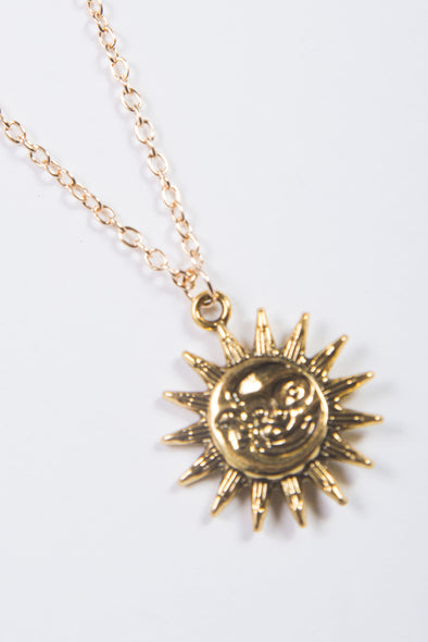 90's Sun & Moon Necklace