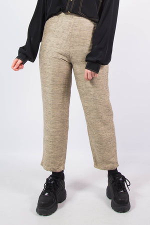 Vintage 90's Check Tapered Silk Trousers